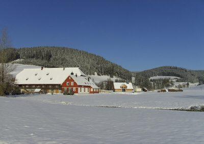 Winterbild Hof